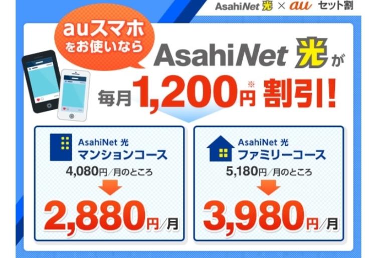 AsahiNet光auセット割