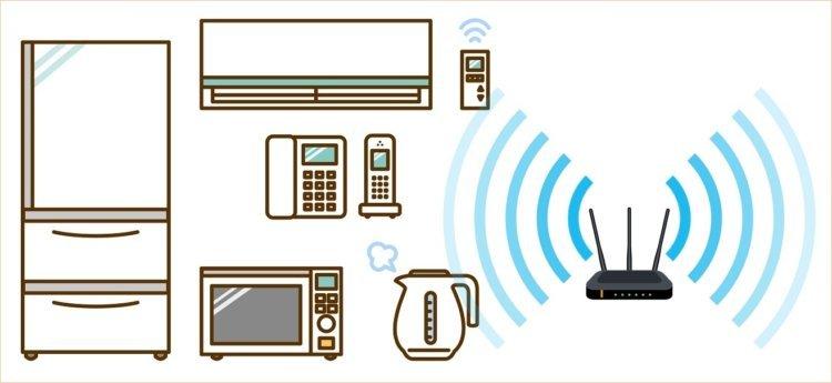 auひかり 家電などによるWi-Fi電波の干渉