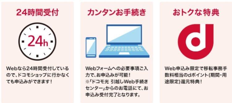 ドコモ光 NTT公式サイトからWeb申込み