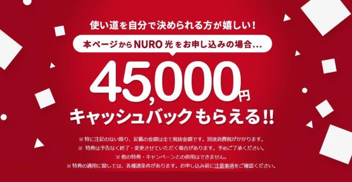 【速度重視】NURO光